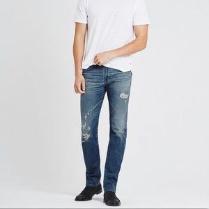 AG The Matchbox Slim Straight Distressed Jeans